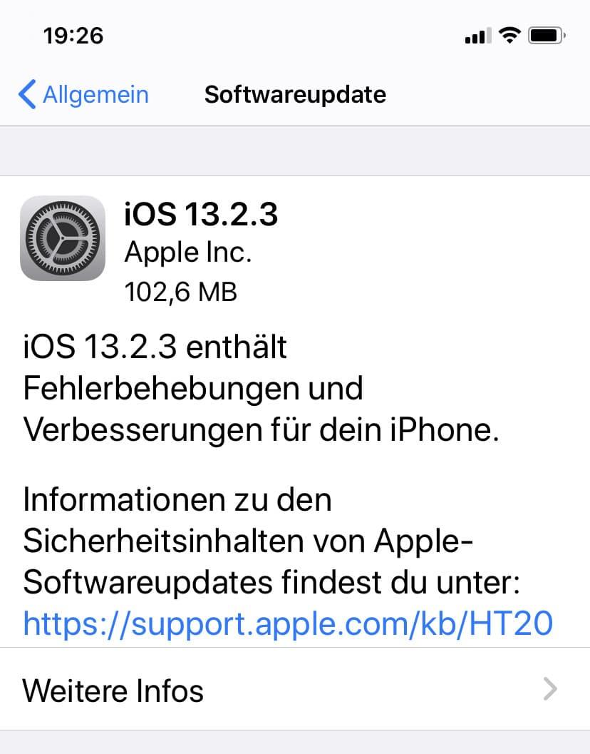 iOS 13..2.3