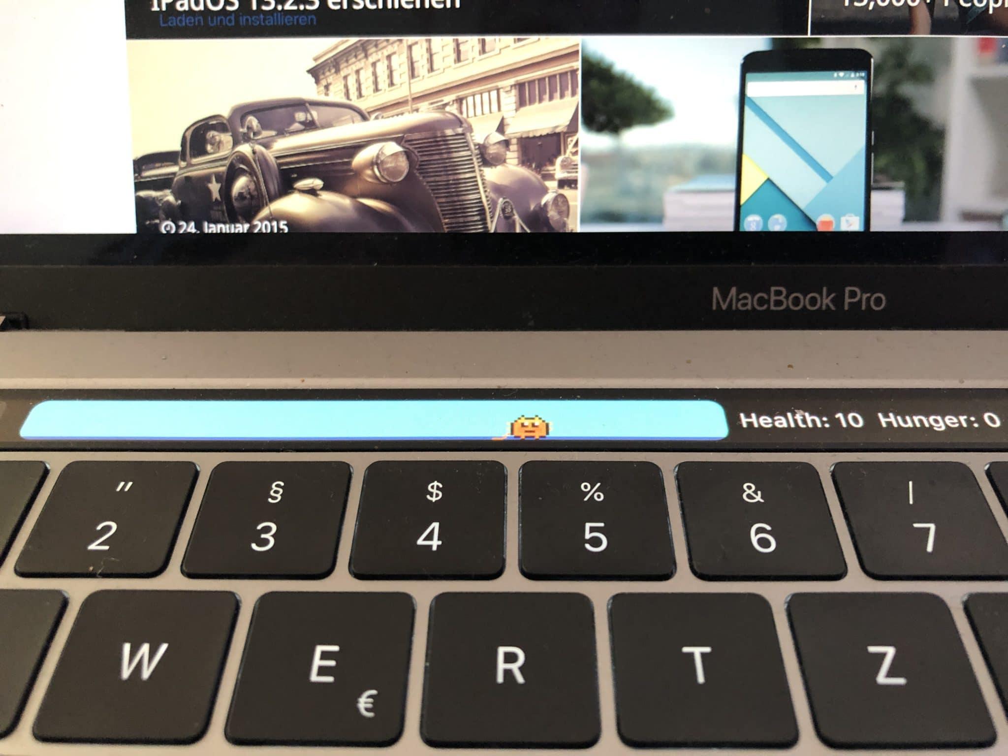 Touchbar Pet für das MacBook Pro
